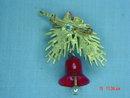 Vintage ART Pine Branch Pine Cone Bell Pin