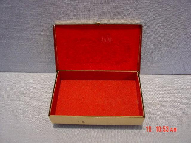 Vintage Brass Trinket Jewelry Box