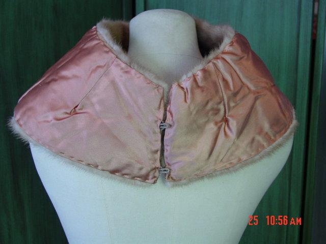 Vintage Mink Neck Stole Collar