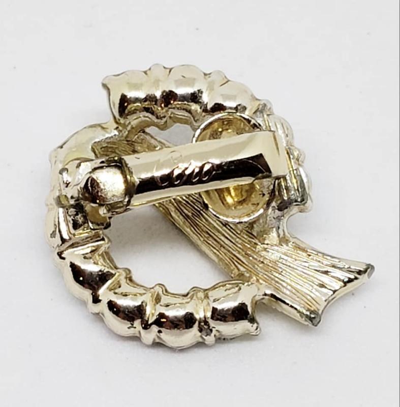 1950's Coro AB Rhinestone Brooch and Clip Earrings