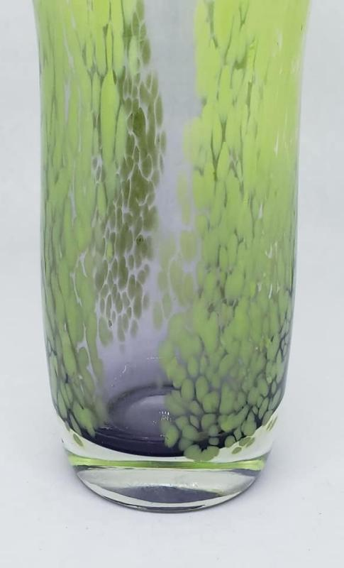 Murano Style Lime Green Blown Glass Tulip Vase