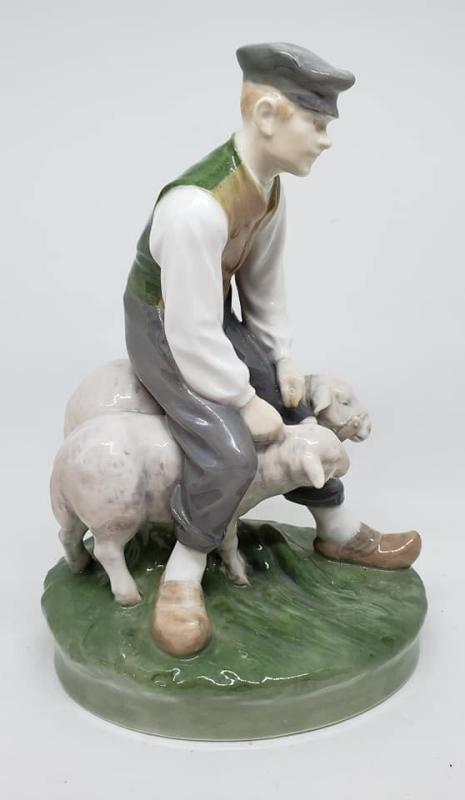 Royal Copenhagen Farmer With Sheep #627