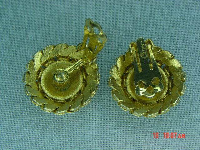 Coro Goldtone Ball Clip Earrings