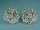 Vintage Pink Carved Celluloid Clip Earrings