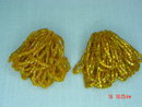 Orange Tubular Glass Seed Bead Clip Earrings