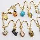 Joan Rivers 13 Faberge' Egg Charm Necklace