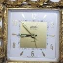 Stylebuilt Gold Ormolu Linden Black Forest Alarm Clock