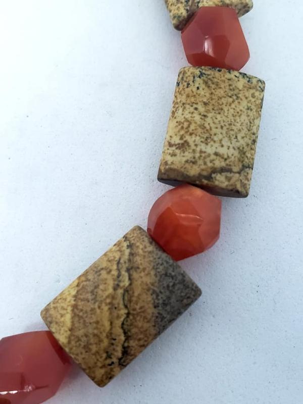 Carnelian, Jasper and Orange Agate Necklace