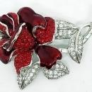 Nolan Miller First Lady Nancy Reagan Red Rose Pin