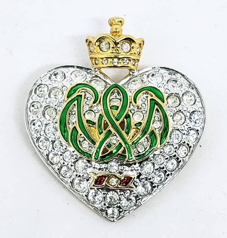KJL Kenneth J. Lane Crowned Heart Pin