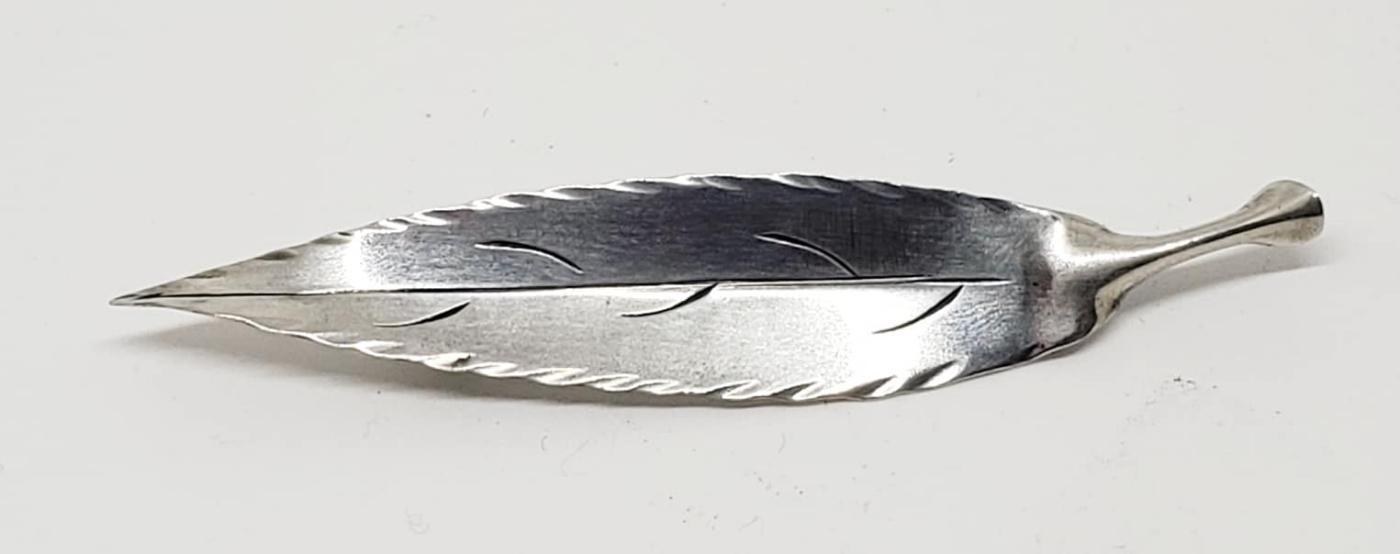 Sterling Silver Stuart Nye Leaf Pin