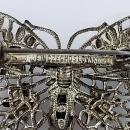 Czechoslovakia Rhinestone Butterfly Brooch