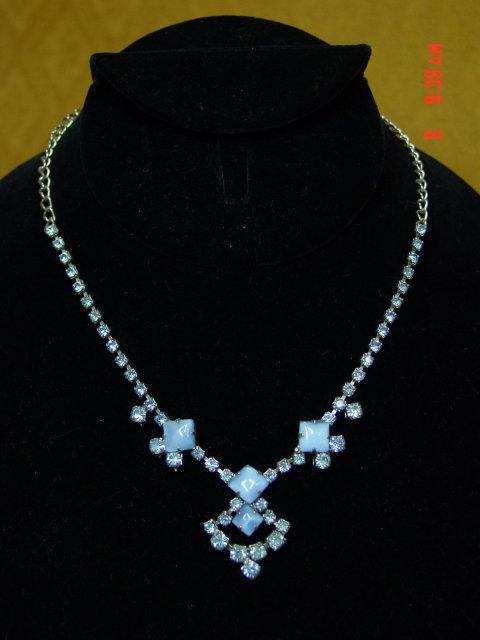 Blue Rhinestone Necklace
