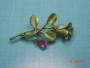 Avon 1972 Gilded Pink Rose Pin