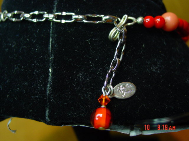 Czech Glass Necklace & Pierced Earrings by Cynthia Jean