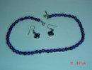 Sterling & Amethyst Bead Necklace & Pierced Earrings