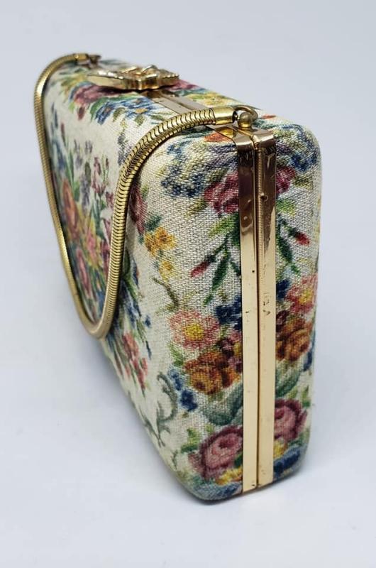 Vintage Volupte' Floral Evening Bag