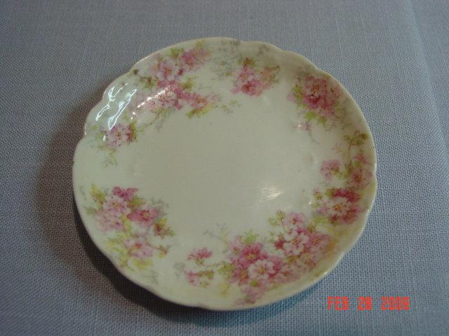 Charles Field Haviland Limoges Pink Floral Butter Pat