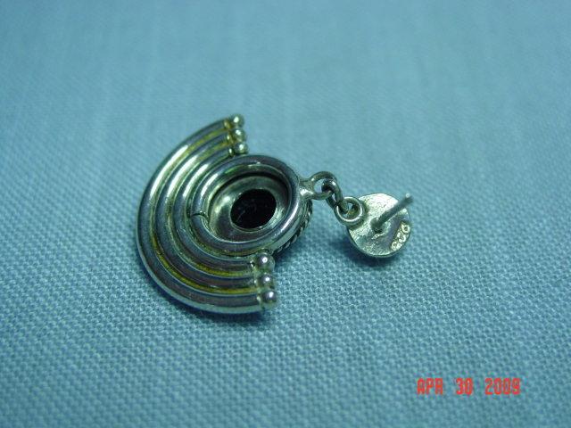 Sterling Black Onyx Pierced Earrings
