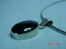 Taxco Sterling Black Onyx Pendant & Necklace