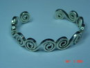 Taxco Mexico Sterling Silver Cuff Bracelet