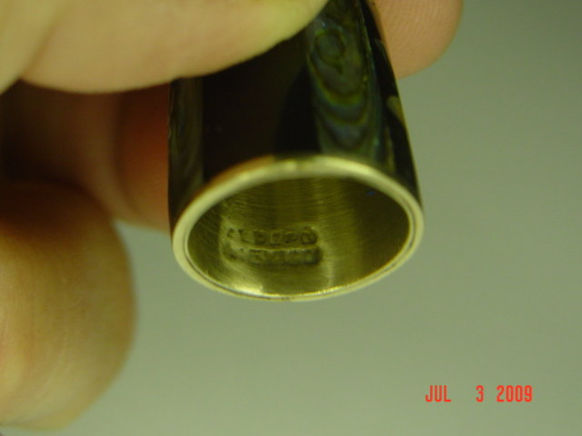 Sterling Silver Alpaca Mexico Abalone Inlay Thimble