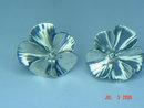 Vintage Stuart Nye Sterling Silver Pansy Screwback Earrings