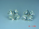 Vintage Stuart Nye Sterling Silver Dogwood Screwback Earrings