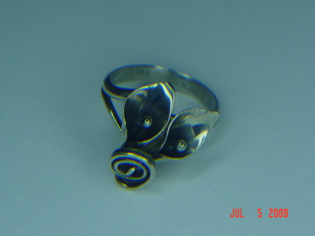Vintage Stuart Nye Sterling Silver Adjustable Lily Ring