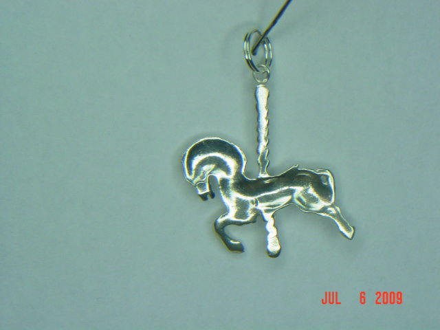 Sterling Carousel Horse Charm or Pendant