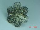 Vintage 800 Silver Filigree Flower Pin