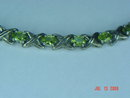 HAN Thai Sterling Peridot Bracelet & Ring Set