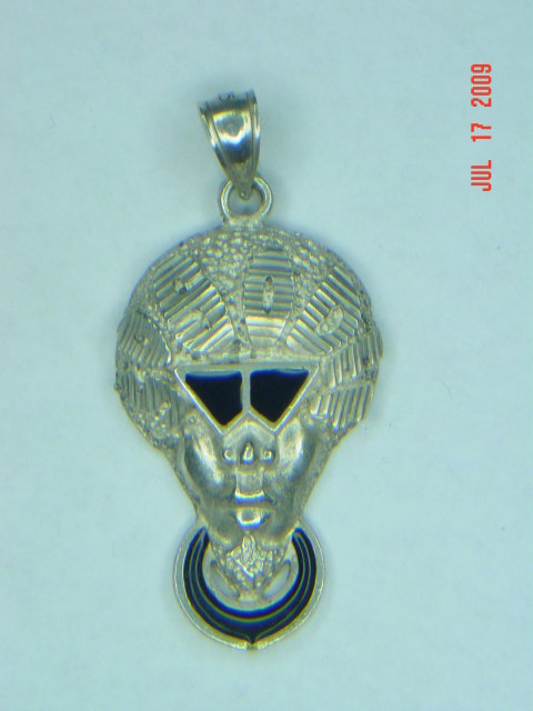 Sterling SoSoDef Afroman Pendant