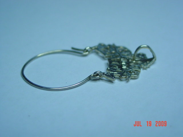 Vintage Sterling #1 Grandmother Eyeglasses or Charm Holder Pendant