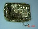 Vintage Whiting & Davis Gold Mesh Short Cigarette Case