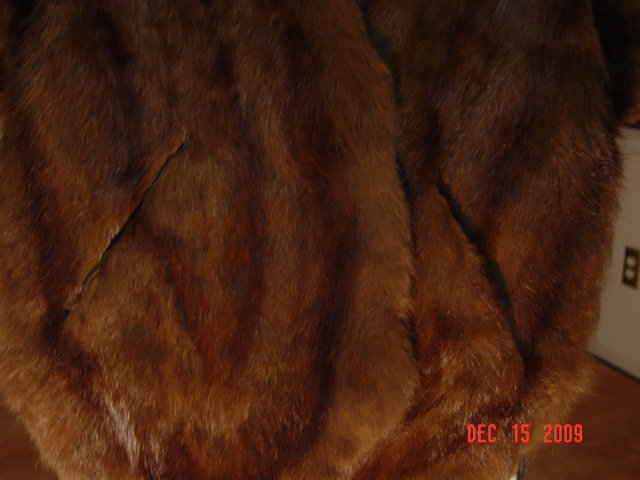 Vintage Chocolate Brown Rabbit Fur Stole