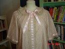 Vintage Odette Barsa Lacy Pink Peignoir Robe