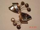 Vintage Large Sterling Bow Brooch