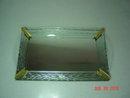 Vintage Art Deco Etched Glass Dresser Tray