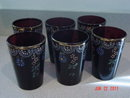 Antique Mosser Victorian Amethyst Glass Water or Lemonade Set
