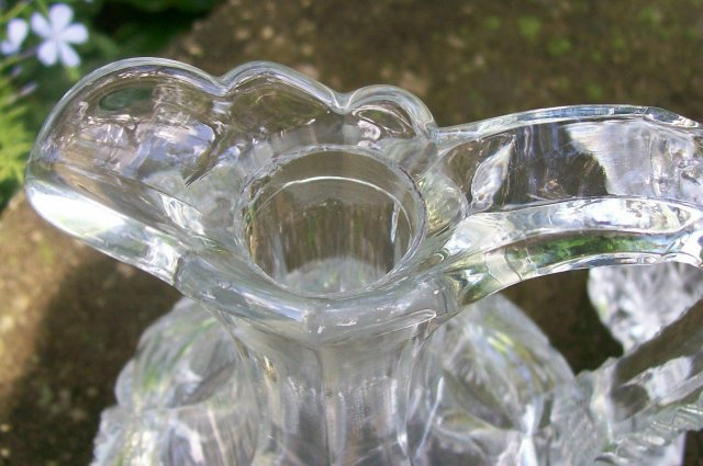 Antique Pennsylvania Decanter w/Original Stopper Clear Early American Pressed Glass