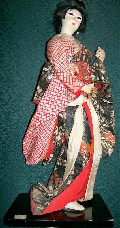 Vintage Japanese Geisha Doll 16.5