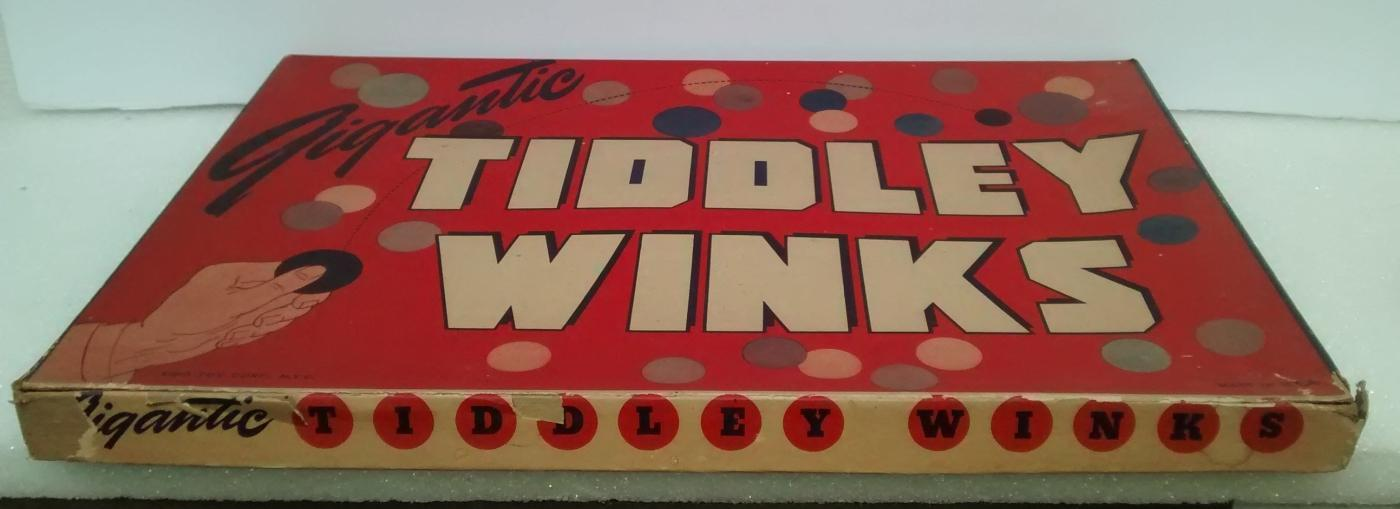 Vintage Gigantic Tiddley Winks Game w/Box Lido Toy NY 1930s-40s AS IS