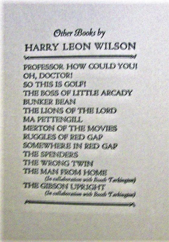 Antique Harry Leon Wilson Book Pair: