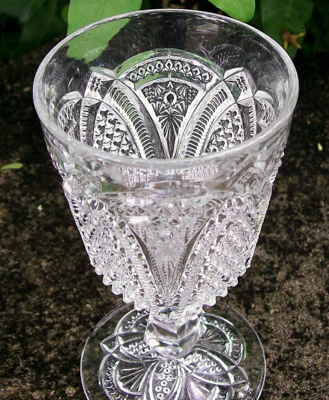 Antique Massachusetts/Geneva Wine EAPG Clear 1800s