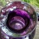 Vintage Early Clevenger Onion Pitcher Coin Dot Optic Amethyst Purple 1935-40 5.5