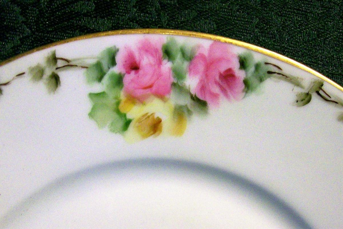Vintage Rosenthal Plate Hand-Painted Roses 1907-56 8.5