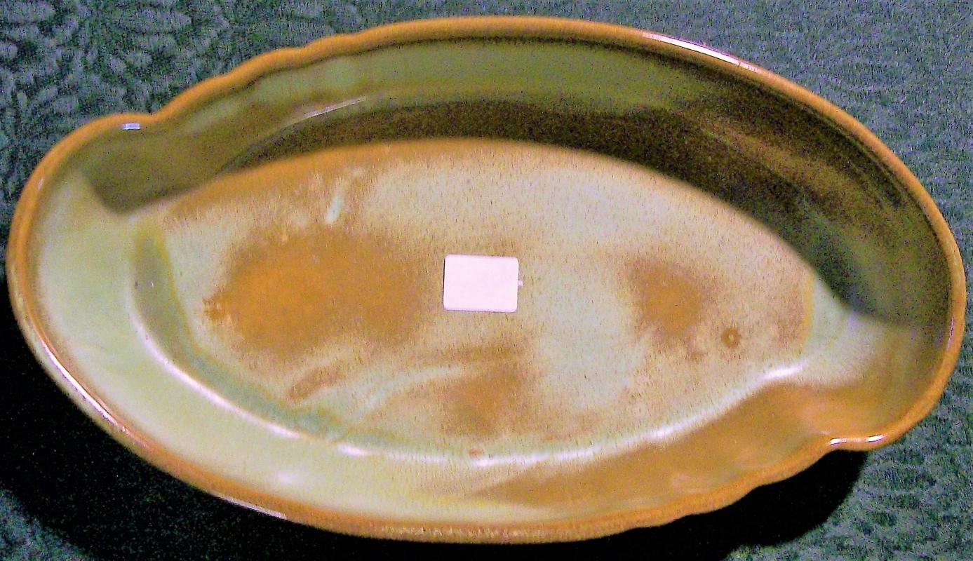 Vintage Frankoma Plainsman Oriental Bowl Prairie Green #205 Ada Clay 10.5