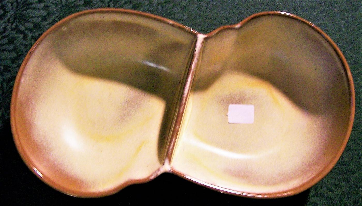 Vintage Frankoma Plainsman Divided Vegetable Desert Gold 10.5