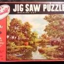 Vintage Jigsaw Puzzle Pair Complete w/Boxes Ca. 1950s-60s CB